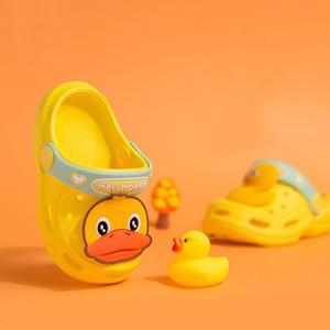 Summer Children slippers yellow duck Kid Boys Girls Cute Beach Sandals Slippers Flip Shoes Infant Cartoon Print Flat Heels Shoes