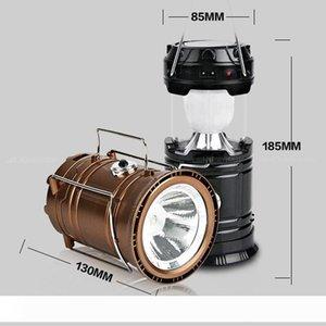 Taşınabilir LED FlashLamp Güneş Kamp Fener 6 leds Şarj Edilebilir Acil El Lambası Çadır Işık Dış Aydınlatma için Katlanabilir
