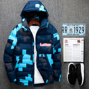 Men's designer down jacket autumn and winter fashion warm with letter printed jacket new trend coat men Size L-6XL-