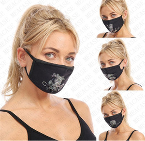 Diamond Shining Face Mask Rhinestone Brand Masks Washable Reusable Designer Glitter Mouth-muffle Cycling Dust Haze Protective Mask D72714