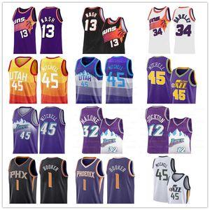 Suns Jersey Steve Nash 13 Phoenix Charles 34 Barkley Devin 1 Booker Donovan 45 Mitchell Utah Karl 32 Malone, John Stockton 12 jazzes