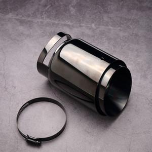 1 Stück Länge 165mm Auspuffrohr Auto Universal groß Durchmesser Titan Black Autoteile System Edelstahl Schalldämpfer Tipp