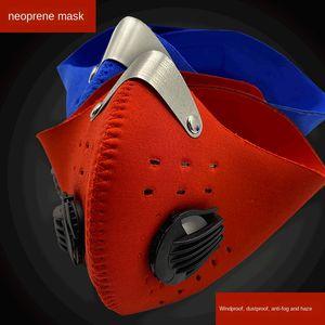 Sport im Freien Staub Reiten aktiviert Protective Fahrradkohlefilter Fahrrad Maske Tauchmaterial Schutzmaske mit Selbstantrieb