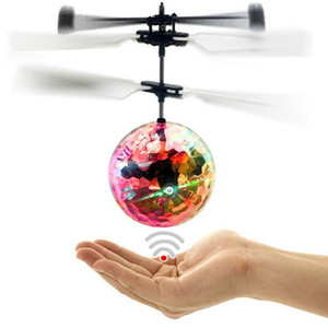 Creative Kid Toy RC Luminoso Bolas de vuelo Mini Aeronave única suspendida LED Luz Inteligente Inducción Flying Ballkid Juguetes
