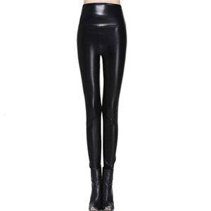 Женщины Леггинсы искусственной кожи высокого качества Тонкий Леггинсы Плюс Размер брюки Новизна Высокая эластичность Sexy легинсы S 4XL кожаные сапоги Леггинсы