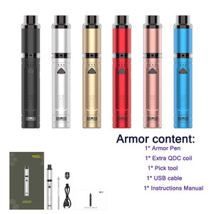New 6 Colors Yocan Armor Wax Vape Pen With 380mah Variable Voltage Concentrate Vaporizer Starter Kits With QDC Coil Original
