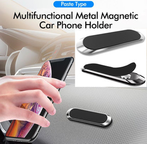 F6 Magnetic Car Phone Holder Mini Metal Plate Magnet Cell Phone Stand For Mobile Phone In Car Strong Magnet Adsorption Car Holder MQ100