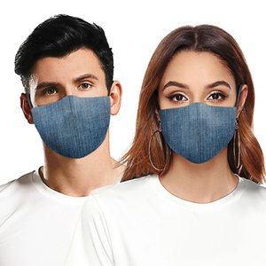 Fashion Face Mask Dust-proof Breathable Washable Reusable Protective Mask Jeans Camouflage Printing Masks For Men And Women DHB595