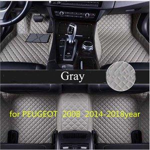 Maßgeschneiderte Auto Bodenmatte wasserdicht PU-Leder Material, geeignet für PEUGEOT 2008 2014-2018year