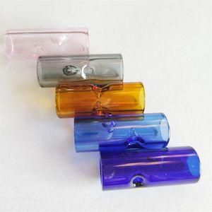Filtro Dicas vidro colorido portátil Mini piteira Pipes fácil de limpar fumadores 12mmx3cm cilíndrico Smoke Ferramenta 0 6SG D2