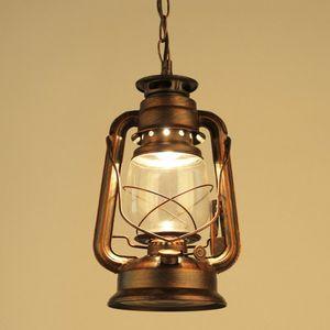 Античный ретро классический керосин фонарь кулон дома гостиная столовая спальня лампа висит аварийный светильник новый PA0310