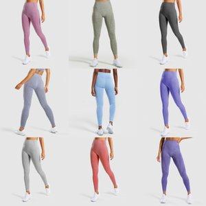 High Waist Yoga Pants Workout Gym Leggings Push Up Hip Fitness Gradient Sport Yoga Trousers#102