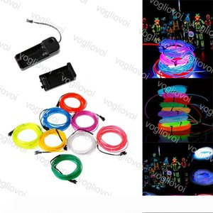 LED Neon Sign EL Wire 3V Flexible?8 Colors 3M Changeable For Car Dance Party Stage Props Christmas Holiday Lighting?DHL