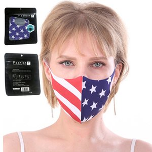 America Face Mask Cartoon Printed Reusable USA flag 3D leopard print Anti Dust Washable Outdoor Mouth Cover Designer Masks