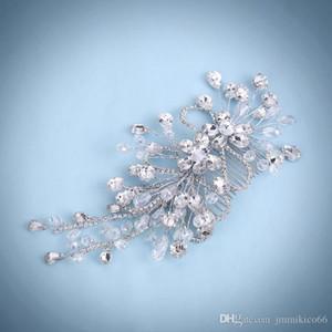 NEW Wedding dress accessories tiara bridal handmade crystal beaded hair comb pearl wedding tiara