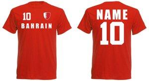 Men 2020 Summer Summer T-Shirt Footballer Bahrain T-Shirt Trikot Look Team Name & Nr Druck Footballerl Soccers Sporter Tees
