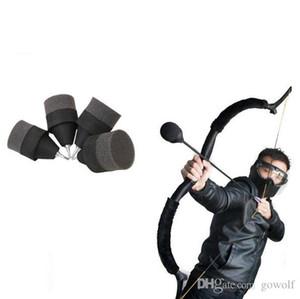 Negro suave esponja de espuma de caza punta de flecha juego de práctica de tiro con arco Broadhead Consejos para Sports Club CS Disparos