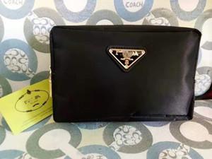 Colore nero borse di stoccaggio lettera Cosmetic Bag Blanks Triangolo glitter cinturino dell'orologio della frizione oro sacchetto di trucco