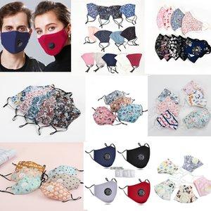máscara de cara boca de algodón con PM2.5 válvula de filtro anti-polvo del humo al aire libre Máscara ajustable reutilizable lavable interior de la boca por niños Mujeres Hombre