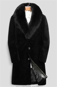 20FW 겨울 남성 디자이너 재킷 HOMBRES 따뜻한 윈드 긴 울 블렌드 Outerwears 코트 블랙이 두꺼워 코트