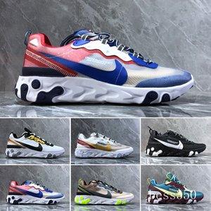 2019 React Element 87 55 running shoes for men women white black Royal Tint Desert Sand Designers breathable sports sneaker size 36-45 JNH9K