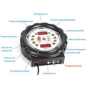 Pneumatic Tire Inflator Air Pump Tire Inflator Pressure Measuring Instruments Pressure Gauges Professtional Tool For Car Tyre