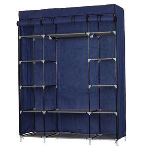 5 strati Bedroom Guardaroba staccabile portatile di archiviazione e guardaroba 12-Compartimento tessuto non tessuto armadio guardaroba Navy immagazzinaggio dei vestiti
