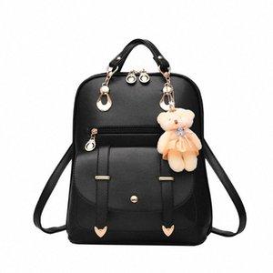 Female Backpack New Casual Women Bag Shoulder Bag Mobile Phone Mezzanine Zipper Pocket Belt Decor Square Rucksack #35 NmfL#