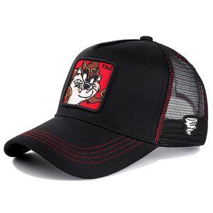 Yeni Marka Anime TAZ KIRMIZI Snapback Cap Pamuk Beyzbol Şapka Bay Bayan Hip Hop Baba Mesh Şapka Trucker Dropshipping