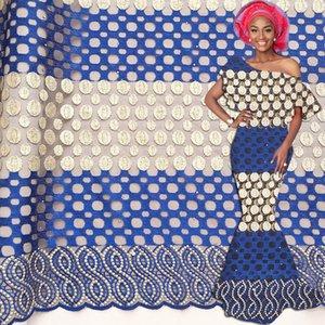 New African Lace Fabric 2020 gestickte Nigerian Latsch Stoff Braut Qualitäts-Französisch Tüll Stoff für Frauen-Kleid