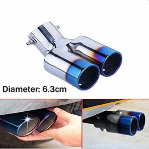 Double Exhaust Muffler Tail Pipe Tip Tailpipe for 3 Sedan 2014-2019 dj50#