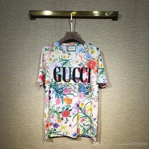 2019 Medusa t shirts European Mens Summer Cotton T-shirts Green Flower Sun Print Tee Tops Short Sleeve Designer Casual tshirt Homme Bloues
