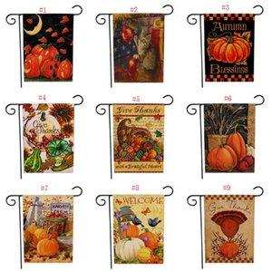 Nuovo Ringraziamento Deorations Giardino Bandiera di Halloween Doppia stampa Zucca Hanging Banner Bandiere casa della decorazione del partito Benvenuto SN3623