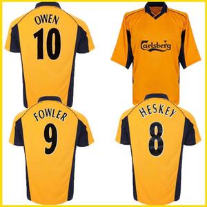 2001 FA Cup finale Michael Owen Gerrard maillot de football rétro 2000 2002 Heskey Fowler Redknapp CARRAGHER chemise classique de football vintage