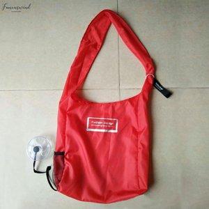 Creative Foldable Eco Grocery Bag Folding Shopping Organizer Eco Storage Reusable Shoulder Bag Large Capacity Handle Bag