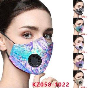 11 cores PM2.5 Máscaras Anti-pó Boca Vento Mask Outdoor máscara protetora válvula Respirador com Filtro partido Máscaras 100pcs T1I2160