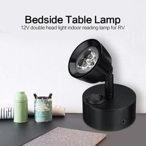 RV 부품 LED 독서 빛 벽 램프 전환 RV 카라반 캠핑카 보트 모터 홈 인테리어 조명 자동차 액세서리