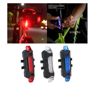 Bicycle Light Waterproof Rear Tail Lights LED USB Rechargeable Mountain Bike Cycling Light Taillamp Safety Warning Light