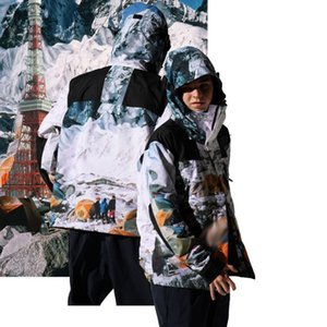 Mejor Nieve Mountain Camp Nuptse chaqueta con capucha capa de los hombres de alta Calle Mujeres Moda al aire libre a prueba de viento chaqueta Outwear HFYMJK330