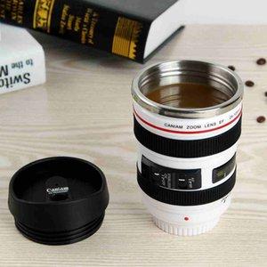 뚜껑 ZZA2451 바다 배송 5 세대 카메라 렌즈 커피 잔 400ml의 스테인리스 보온병 텀블러 여행 캠핑 커피 컵