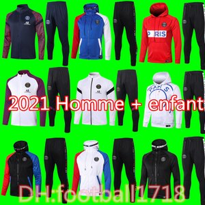 2020 2021 veste de capuchon de paris Survetement 19 20 21 Paris CAVANI MBAPPE vestes de football survêtements air jordam x TRACKSUIT de football