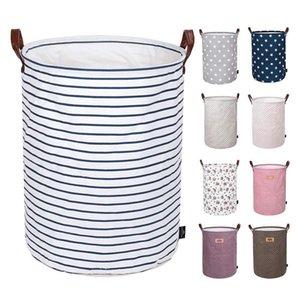 Immagazzinaggio pieghevole Basket Bambini Giocattoli sacchetti di immagazzinaggio Bins stampati vario Secchio Canvas Handbags Abbigliamento Organizzatore Tote 12pcs DHC17