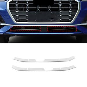 Acessórios Car Frente Grades Grill Chrome Pad Sills Tampa guarnição Etiqueta Quadro Decoração Exterior de Audi Q3 F3 2018 2019 2020
