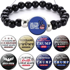 Donald Trump 2020 Bracelet Keep America Great USA President Commemorate Crystal Beads Arts and Crafts DDA239