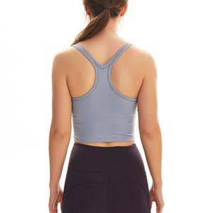 Correndo Academia Top Curto Workout Yoga do Yushuhua Sexy Sports Vest Mulheres Regatas elásticas apertadas roupas de ginástica com a almofada no peito