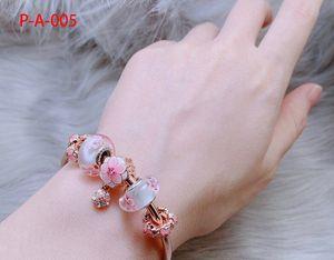 Dr. Peach contas rosa vidro transporte bracelete de cristal modelos femininos feminino porta Dongguk Panjia pulseiras estilo pulseira