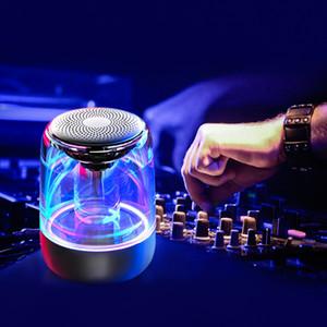 Mini C7 Bluetooth wirless hoparlör Renkli Işık Cam Subwoofer TF Kart 32GB Depolama 12H Dayanıklılık çalar saat Bluetooth hoparlör