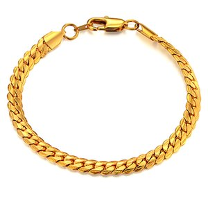 Mens Chain Braclet For Men Jewelry Braslet 2020 Male Gold Color Snake Chain Link Bracelet Men's Jewelry,bracelets amp bangles