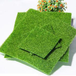 1pc 15 * 15/30 * 30cm artificielle Grassland herbe pelouse gazon herbe bricolage plantes Faux vert pour Décor de jardin Fournitures MODÉLISME