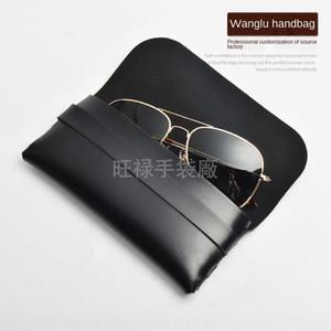 Shenzhen high-grade leather box customized case sun case PU glasses bag PVC sunglasses bag imprinting silk screen